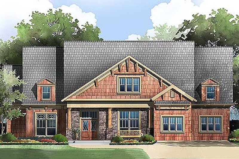 Home Plan - Large luxurious country home