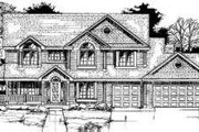 Country Style House Plan - 4 Beds 2.5 Baths 2685 Sq/Ft Plan #334-105 Exterior - Front Elevation