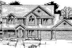 Country Exterior - Front Elevation Plan #334-105