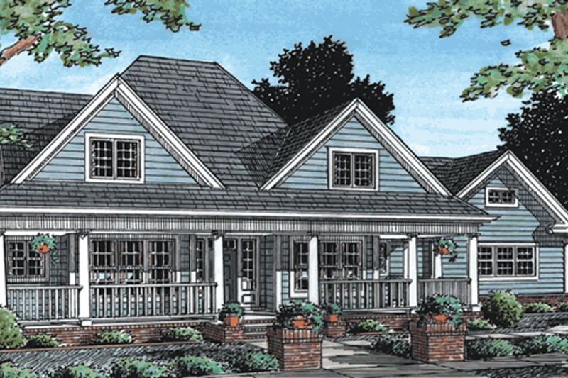 Farmhouse Exterior - Front Elevation Plan #20-342 - Houseplans.com