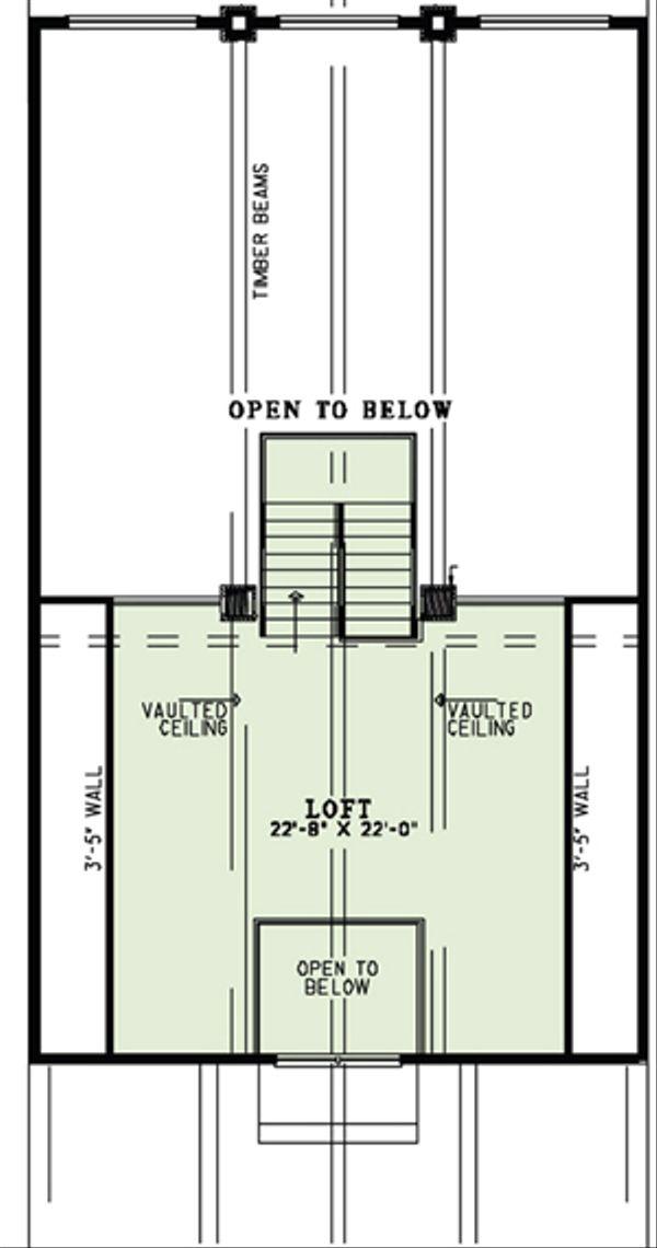 Craftsman Floor Plan - Upper Floor Plan Plan #17-2500