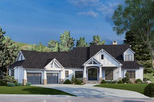 Traditional Exterior - Front Elevation Plan #17-3430