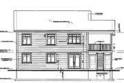 Traditional Style House Plan - 3 Beds 1 Baths 2307 Sq/Ft Plan #23-2167 Exterior - Rear Elevation
