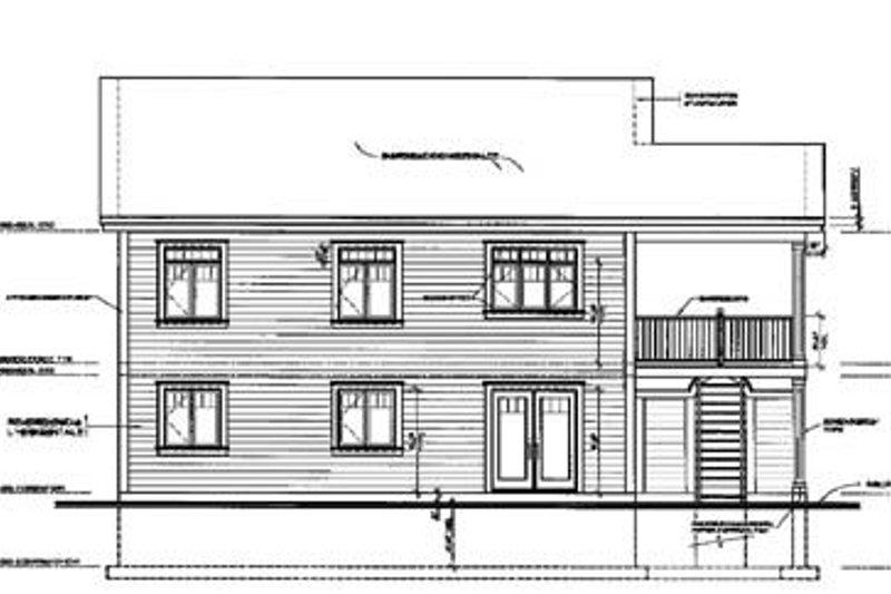 Traditional Exterior - Rear Elevation Plan #23-2167 - Houseplans.com