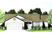 Ranch Style House Plan - 2 Beds 2 Baths 995 Sq/Ft Plan #58-202 Exterior - Front Elevation