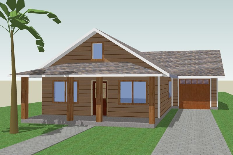 Cottage Style House Plan - 3 Beds 2 Baths 1152 Sq/Ft Plan #423-57 Photo