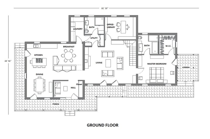 Farmhouse Floor Plan - Main Floor Plan Plan #542-10