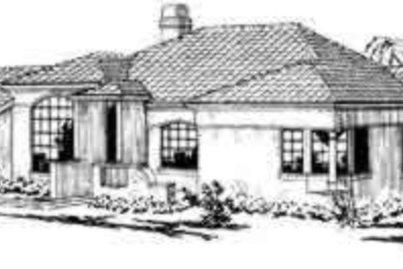 Mediterranean Exterior - Front Elevation Plan #124-224 - Houseplans.com