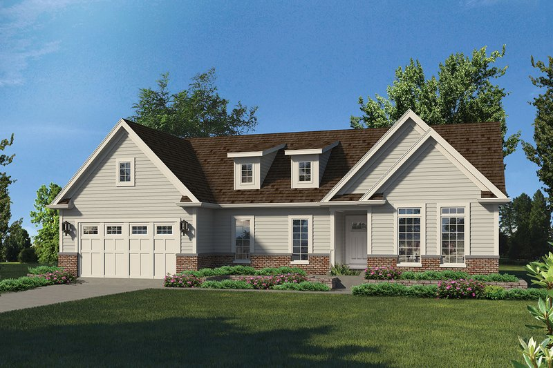 Craftsman Exterior - Front Elevation Plan #57-657