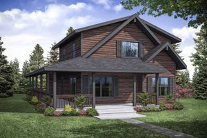 Cottage Exterior - Front Elevation Plan #124-1130
