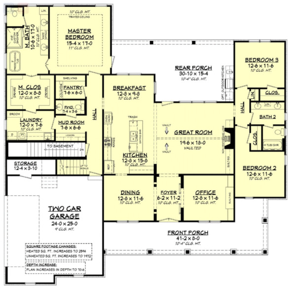 Home Plan - Basement Stair Location