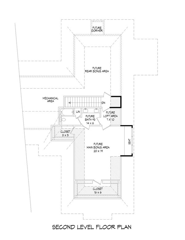 Country Floor Plan - Upper Floor Plan Plan #932-125
