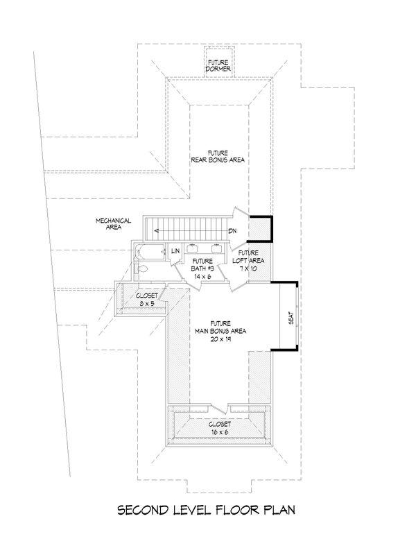 Dream House Plan - Country Floor Plan - Upper Floor Plan #932-125