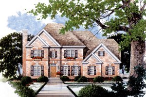 Architectural House Design - Traditional Exterior - Front Elevation Plan #429-19