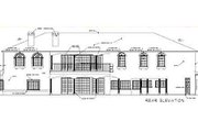 Mediterranean Style House Plan - 6 Beds 6.5 Baths 7572 Sq/Ft Plan #1-940 Exterior - Rear Elevation
