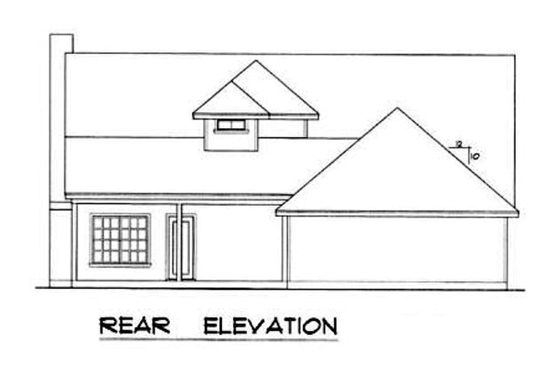 Farmhouse Exterior - Rear Elevation Plan #40-163 - Houseplans.com