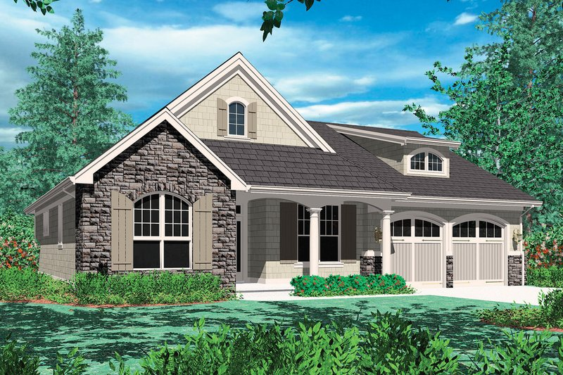 Cottage style floor plan elevation 48-102