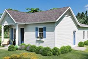 Cottage Style House Plan - 3 Beds 2 Baths 1320 Sq/Ft Plan #44-229 Exterior - Other Elevation
