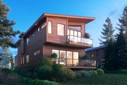 Modern Style House Plan - 3 Beds 3.5 Baths 2647 Sq/Ft Plan #1066-106 Exterior - Other Elevation