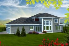 House Design - Traditional Exterior - Rear Elevation Plan #70-1127