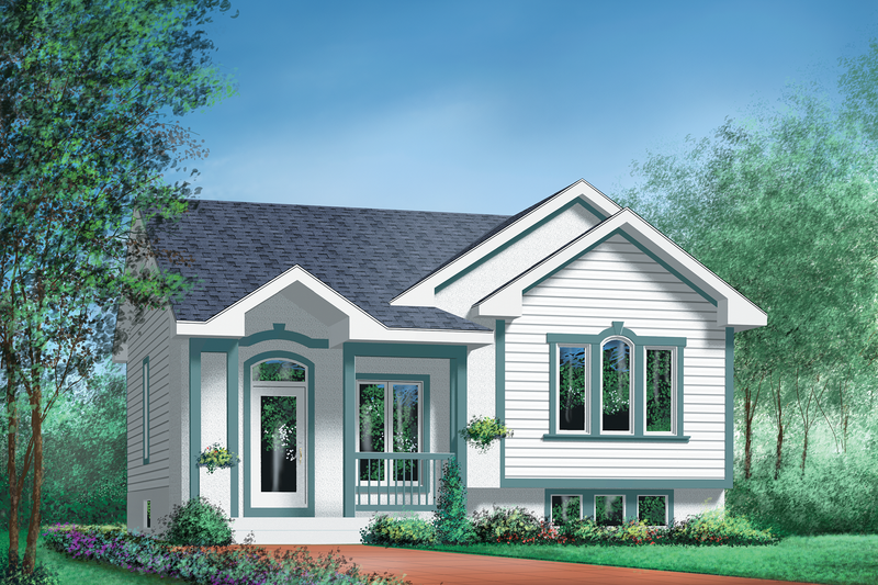 Cottage Style House Plan - 2 Beds 1 Baths 886 Sq/Ft Plan #25-176 Exterior - Front Elevation
