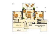 Log Style House Plan - 3 Beds 3.5 Baths 4100 Sq/Ft Plan #942-43 Floor Plan - Lower Floor