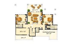 Log Floor Plan - Lower Floor Plan Plan #942-43