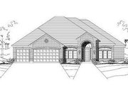 European Style House Plan - 4 Beds 4 Baths 3264 Sq/Ft Plan #411-572 Exterior - Front Elevation