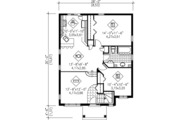 Traditional Style House Plan - 2 Beds 1 Baths 961 Sq/Ft Plan #25-4232 Floor Plan - Main Floor Plan