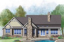 Craftsman Exterior - Rear Elevation Plan #929-1043