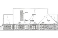 European Exterior - Rear Elevation Plan #310-959