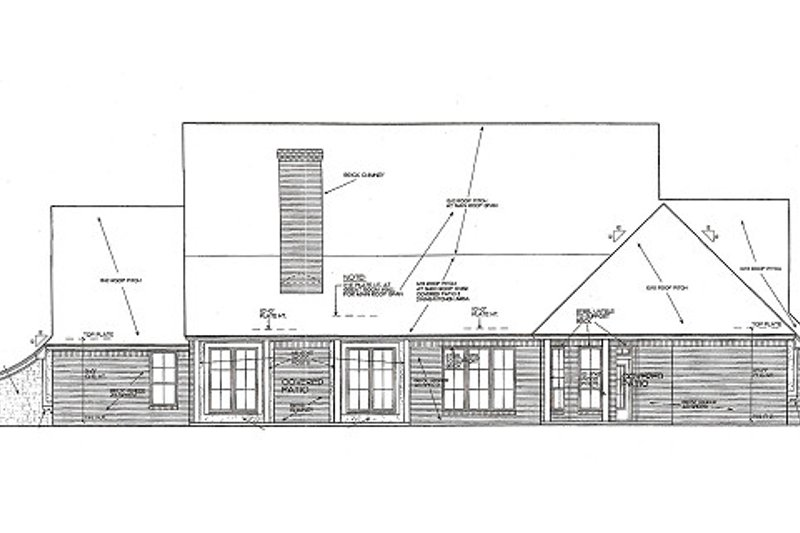 European Exterior - Rear Elevation Plan #310-959 - Houseplans.com