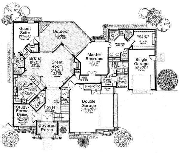 European Floor Plan - Main Floor Plan Plan #310-698