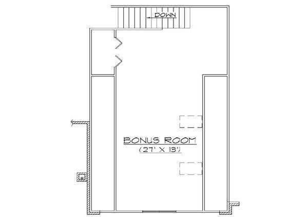European Floor Plan - Upper Floor Plan Plan #5-376