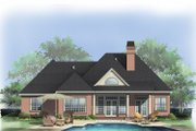 European Style House Plan - 3 Beds 2.5 Baths 2233 Sq/Ft Plan #929-692 Exterior - Rear Elevation