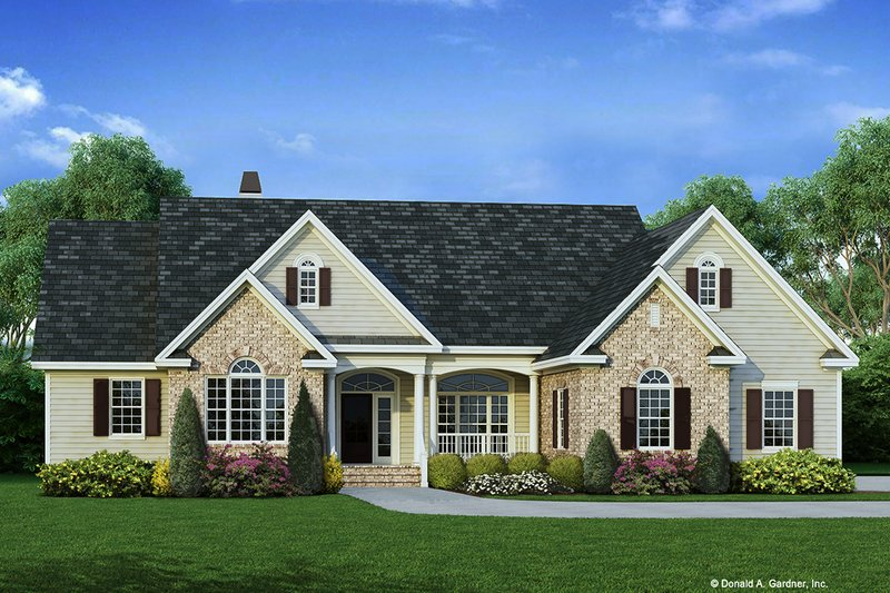 Ranch Exterior - Front Elevation Plan #929-798