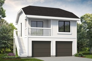 Exterior - Front Elevation Plan #47-1075