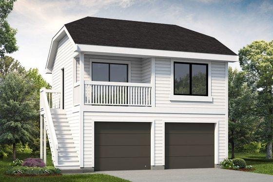 Exterior - Front Elevation Plan #47-1075