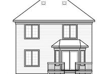 Colonial Exterior - Rear Elevation Plan #23-862