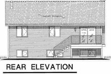 Home Plan - Contemporary Exterior - Rear Elevation Plan #18-310