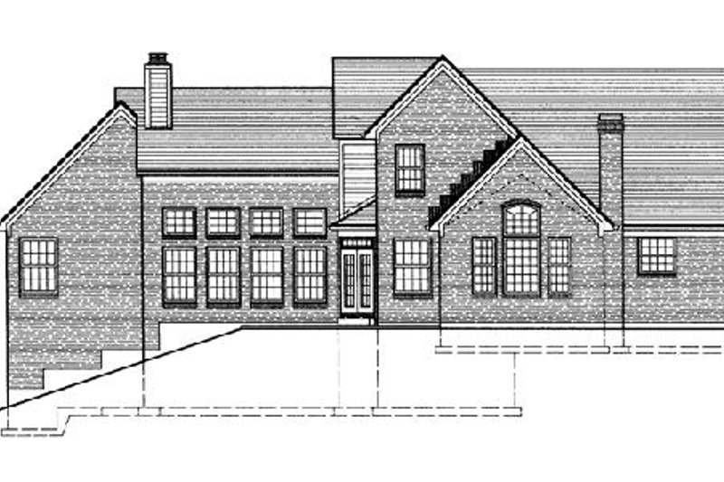 European Exterior - Rear Elevation Plan #46-239 - Houseplans.com