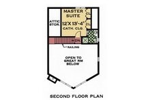 Contemporary Floor Plan - Upper Floor Plan Plan #3-240