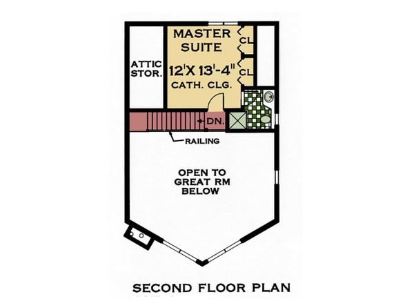 Contemporary Floor Plan - Upper Floor Plan #3-240