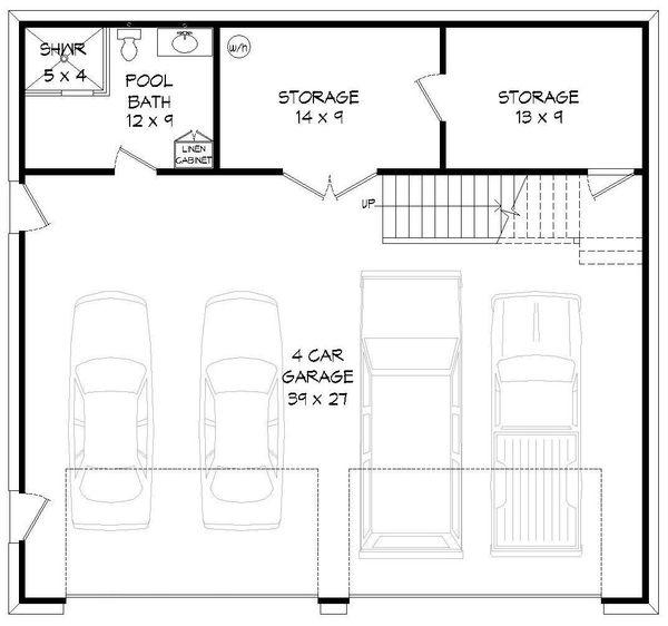 Country Floor Plan - Main Floor Plan Plan #932-152