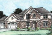 Dream House Plan - Traditional Exterior - Front Elevation Plan #20-1765