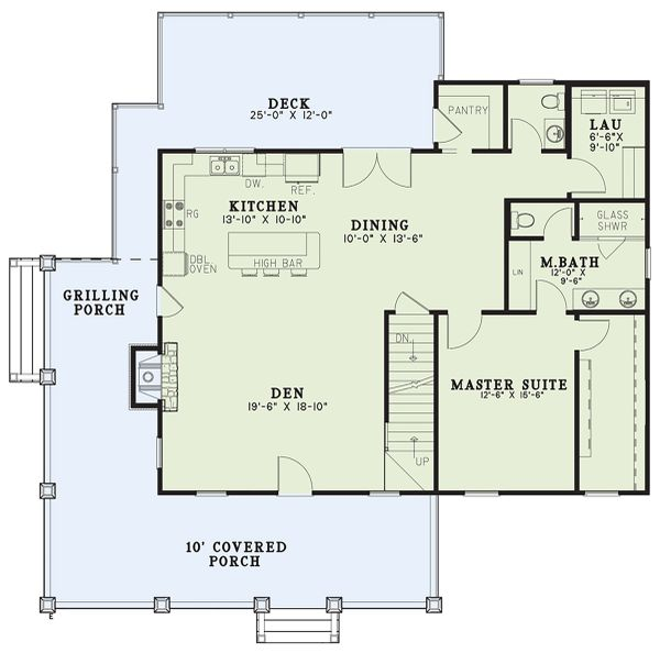 Craftsman Floor Plan - Main Floor Plan Plan #17-3427