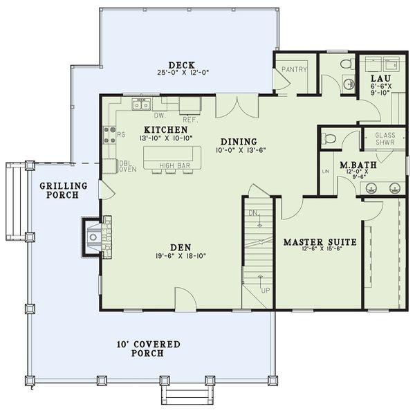 House Design - Craftsman Floor Plan - Main Floor Plan #17-3427