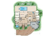 Contemporary Style House Plan - 3 Beds 3.5 Baths 4120 Sq/Ft Plan #27-563 Floor Plan - Main Floor Plan
