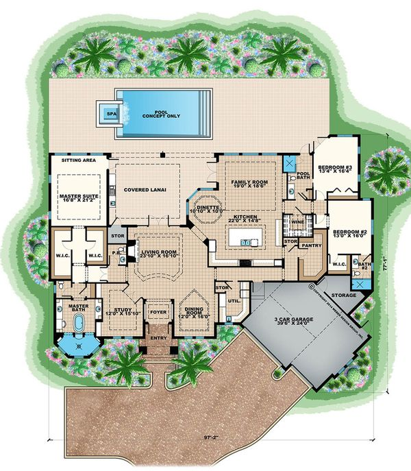 Contemporary Floor Plan - Main Floor Plan Plan #27-563