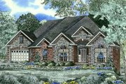 European Style House Plan - 3 Beds 3.5 Baths 1871 Sq/Ft Plan #17-220 Exterior - Front Elevation